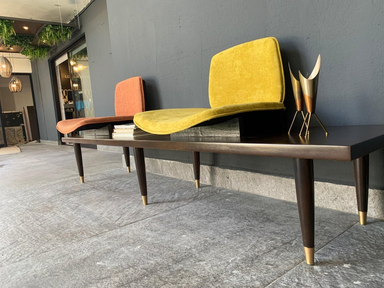 Mexican Mid-Century Modern Bench For Sale