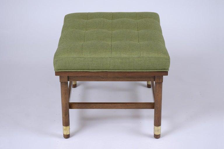 Hand-Crafted Mid-Century Modern Walnut Bench