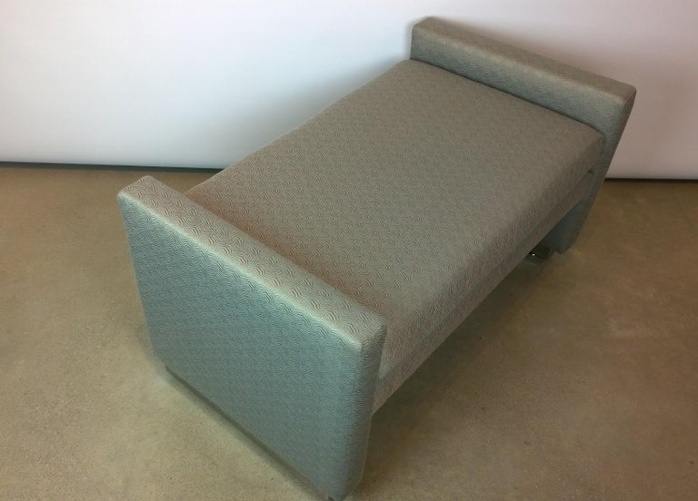 Mid-Century Modern Milo Baughman Newly Upholstered Bench with Chrome Base For Sale 1