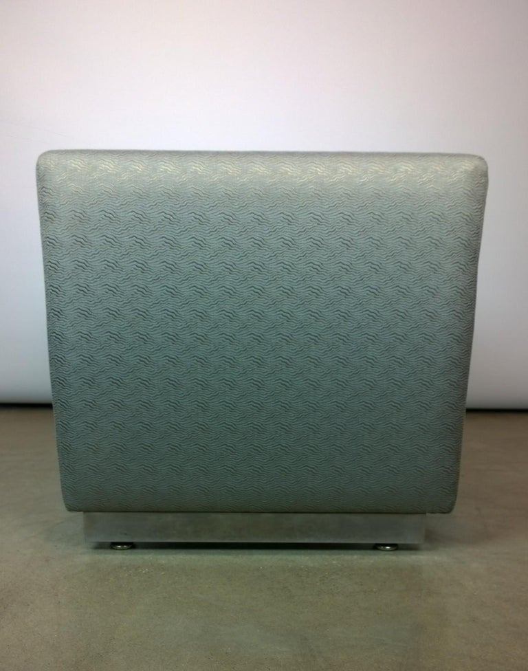 Mid-Century Modern Milo Baughman Newly Upholstered Bench with Chrome Base For Sale 2