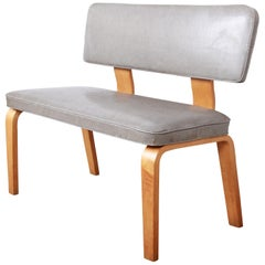 Mid-Century Modern Bentwood Bench Attributed to Thonet
