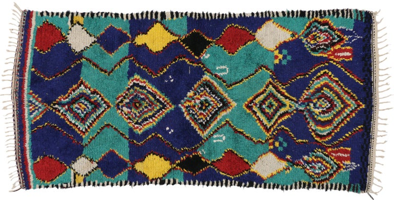 Contemporary Berber Moroccan Rug with Post-Modern Bauhaus Style For Sale 4