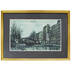 Mid-Century Modern Bernard Buffet St Martins Canal 1956 French Lithograph Signed