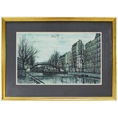 Mid-Century Modern Bernard Buffet St Martins Canal 1956 French Lithograph Signed