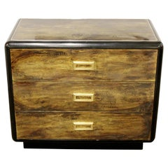 Mid-Century Modern Bernard Rohne Mastercraft Acid Etched Cabinet Chest, 1970s