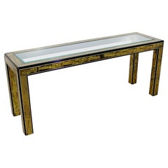 Mid-Century Modern Bernard Rohne Mastercraft Acid Etched Console Table, 1970s