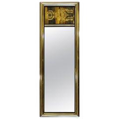 Mid-Century Modern Bernard Rohne Mastercraft Acid Etched Wall Mirror, 1970s