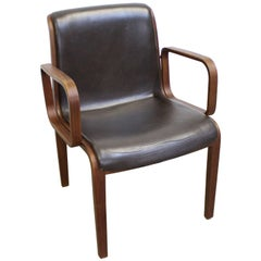Mid-Century Modern Bill Stephens for Knoll Bentwood Armchair