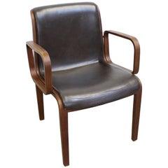 Mid-Century Modern Bill Stephens Knoll Walnut Armchair