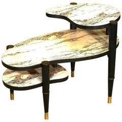 Mid-Century Modern Biomorphic Side Table with Formica Top
