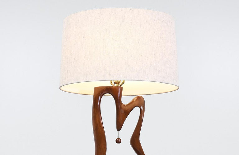 Mid-20th Century Mid-Century Modern Biomorphic Table Lamps For Sale