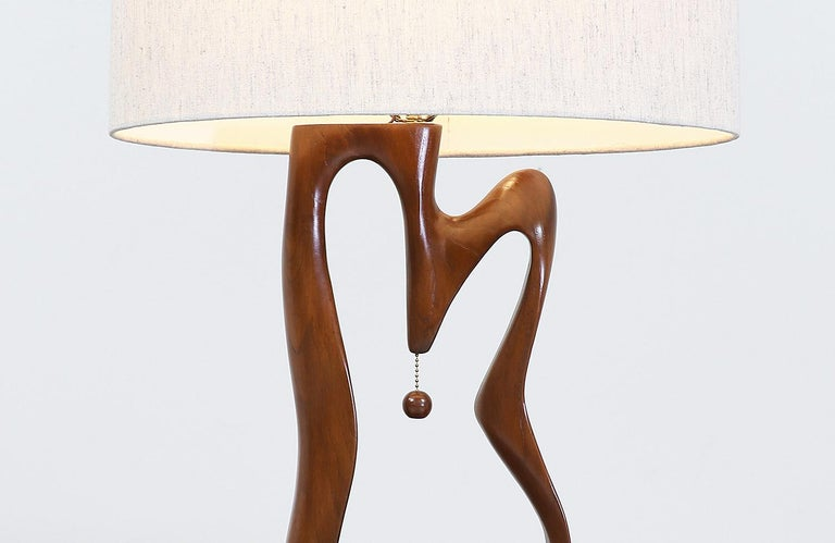 Mid-Century Modern Biomorphic Table Lamps For Sale 1