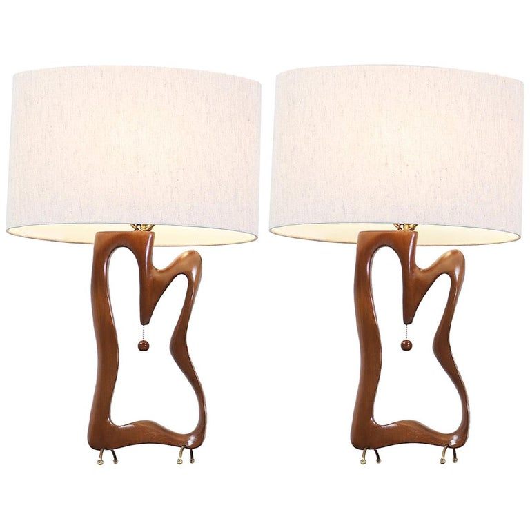 Mid-Century Modern Biomorphic Table Lamps For Sale