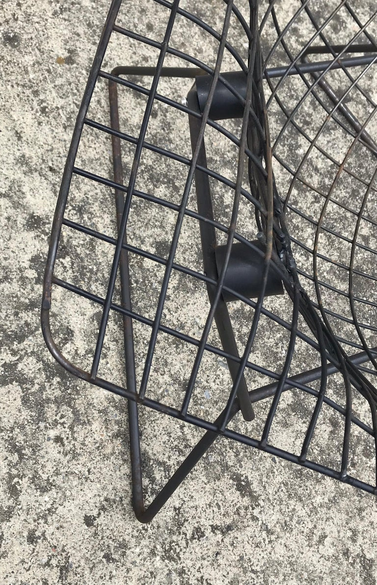 Mid-20th Century Mid-Century Modern Bird Chair in Black by Harry Bertoia for Knoll, Early 1950s For Sale