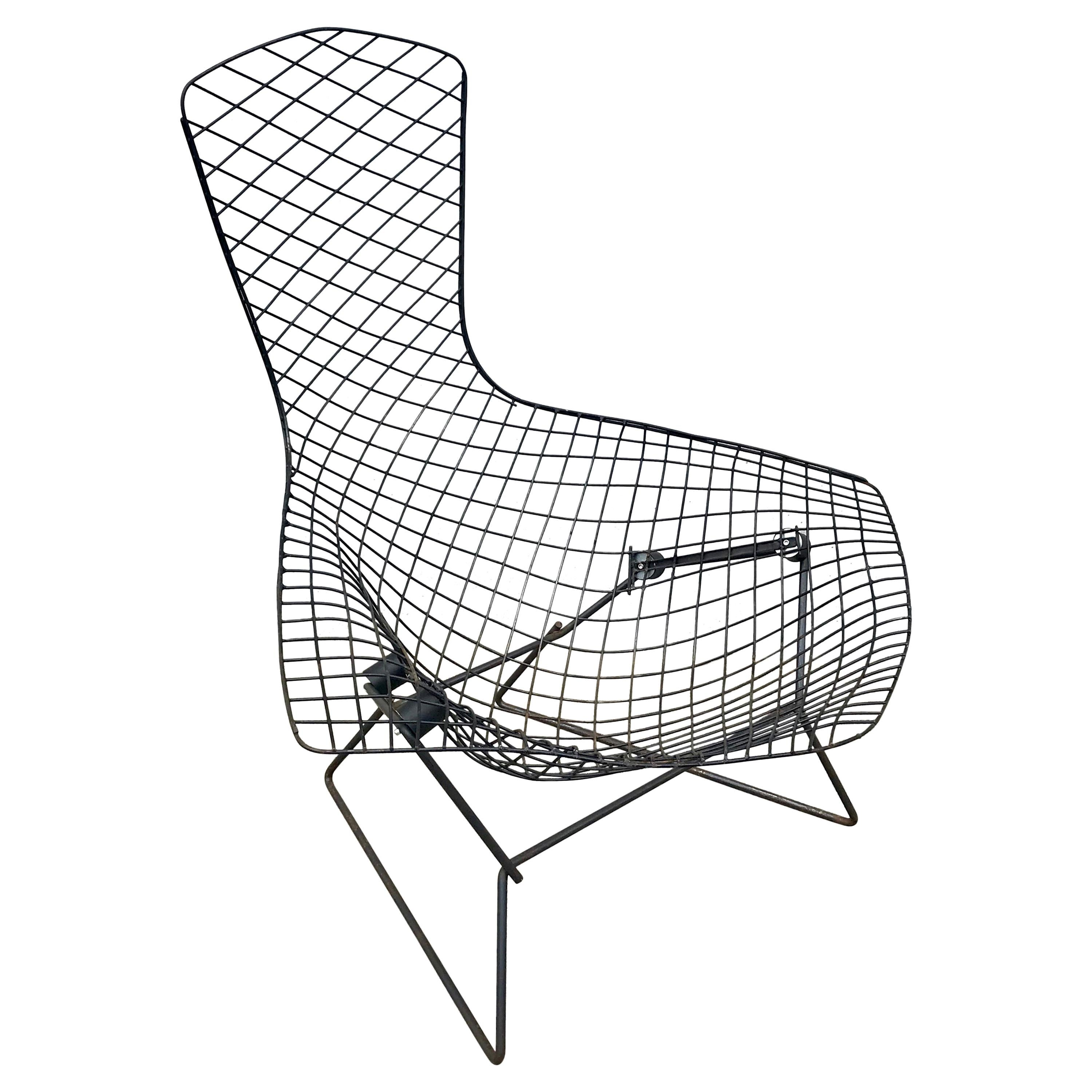 Mid-Century Modern Bird Chair in Black by Harry Bertoia for Knoll, Early 1950s