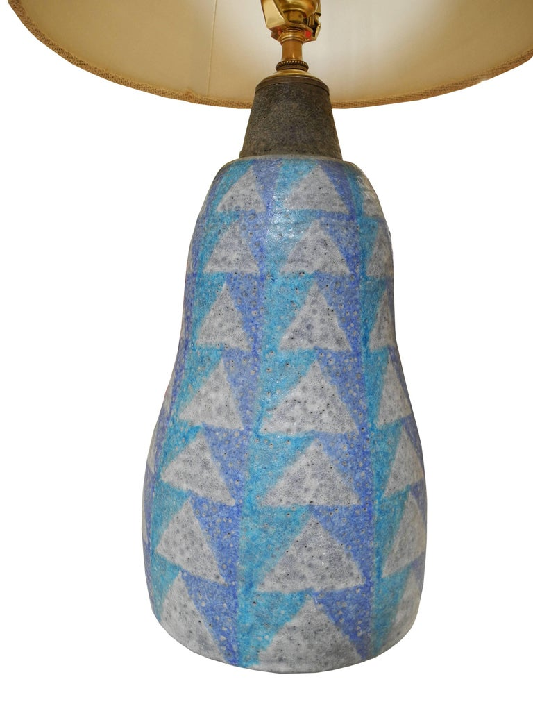 European Mid-Century Modern Bitossi Ceramic Table Lamp from Italy, 1950s For Sale