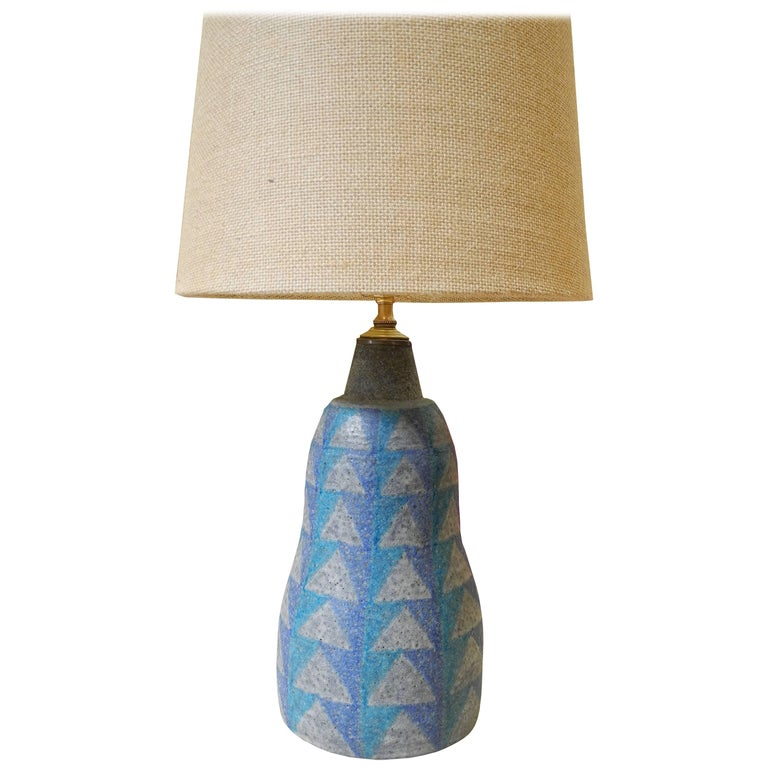 Mid-Century Modern Bitossi Ceramic Table Lamp from Italy, 1950s For Sale