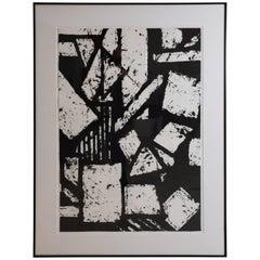 Mid-Century Modern Black and White Geometric Gordon Newton Special Edition 1970s