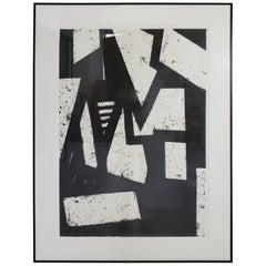 Mid-Century Modern Black and White Geometric Gordon Newton Special Edition