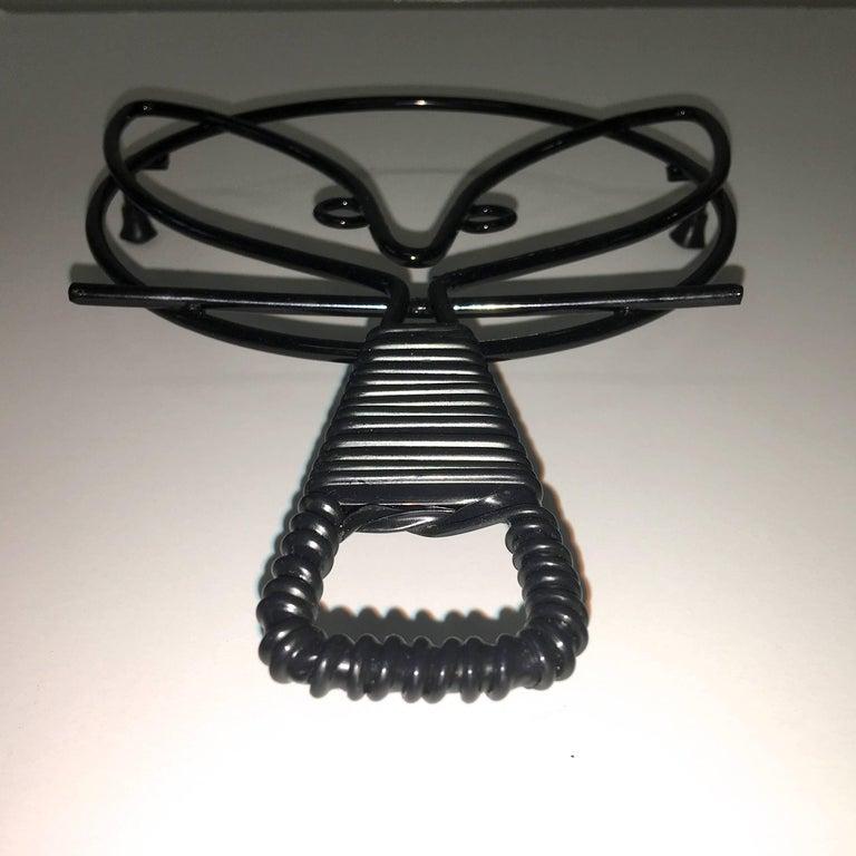 Mid-Century Modern Black Iron Wire Organizers For Sale 7
