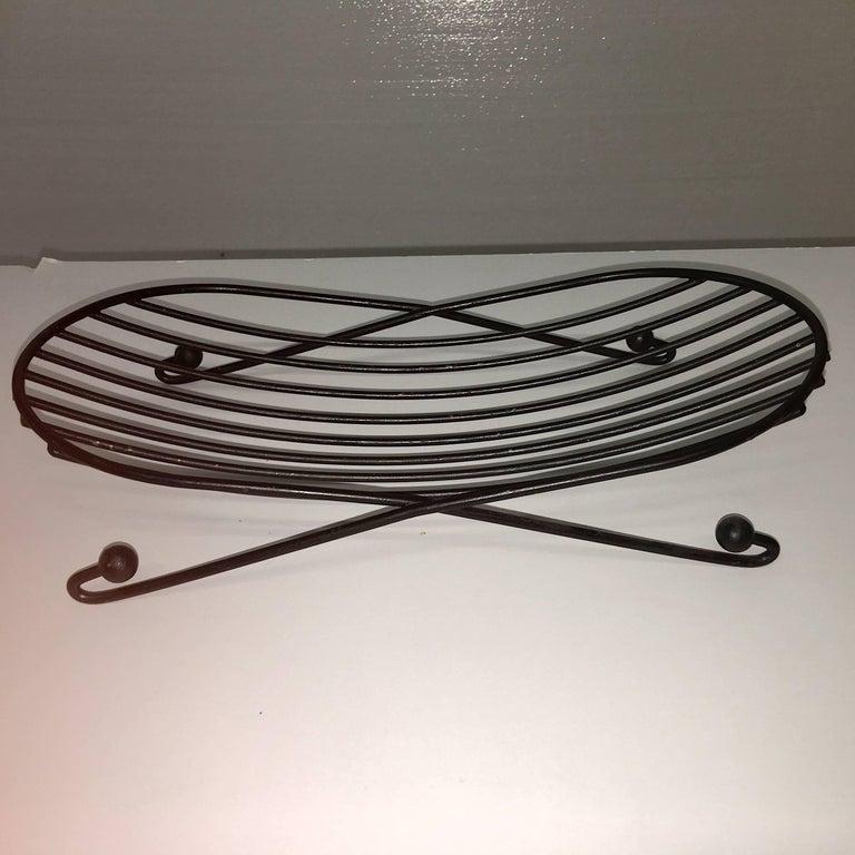 Mid-Century Modern Black Iron Wire Organizers For Sale 8