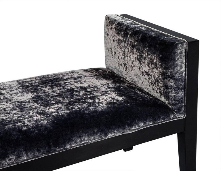 Mid-Century Modern Black Lacquered Bench In Excellent Condition For Sale In North York, ON