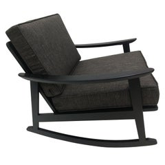 Mid-Century Modern Black Lacquered Rocking Chair, circa 1958