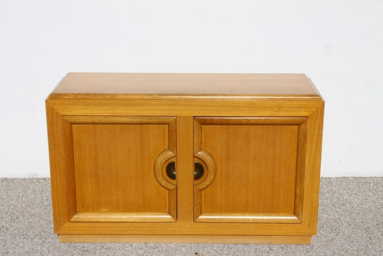 Midcentury cabinet often attributed to Paul Laszlo made by Stewartstown Furniture Company. Currently being refinished, price includes refinishing.