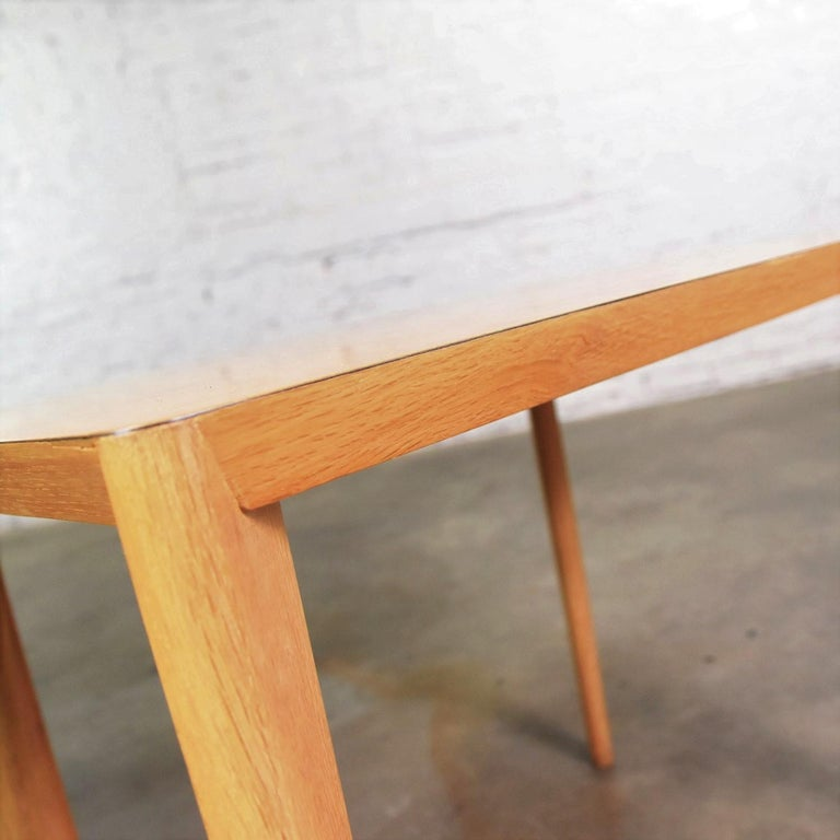 Mid-Century Modern Blonde Side Tables or End Tables with Laminate Tops a P For Sale 9