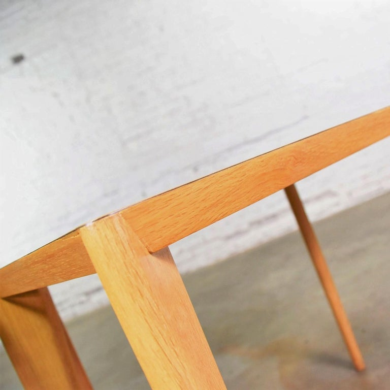 Mid-Century Modern Blonde Side Tables or End Tables with Laminate Tops a P For Sale 10