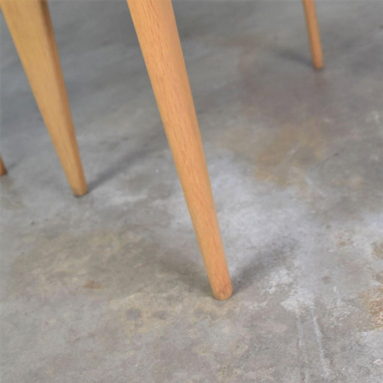 Mid-Century Modern Blonde Side Tables or End Tables with Laminate Tops a P For Sale 12