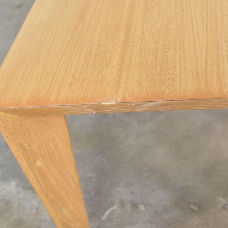 Mid-Century Modern Blonde Side Tables or End Tables with Laminate Tops a P For Sale 13
