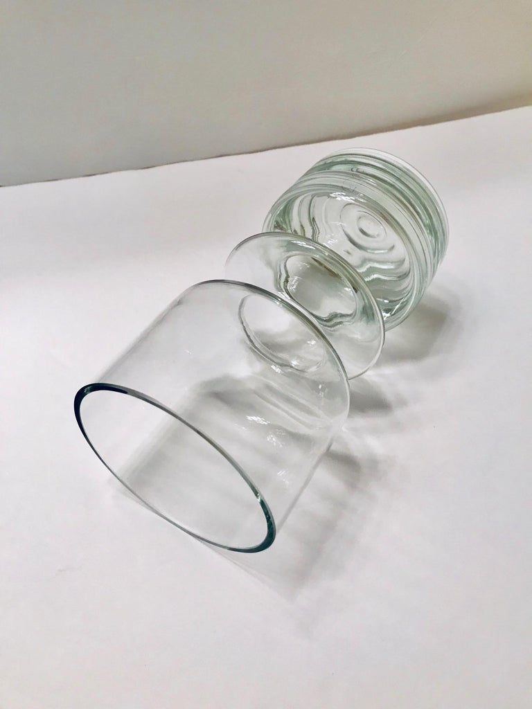 Mid-Century Modern Blown Glass Vase from Finland by Riihimäen Lasi Oy For Sale 6