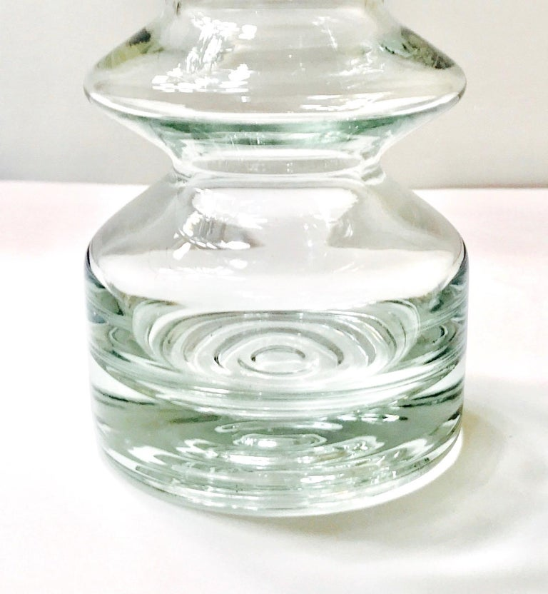 Mid-Century Modern Blown Glass Vase from Finland by Riihimäen Lasi Oy For Sale 1