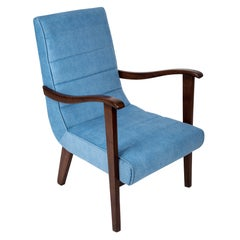 Mid-Century Modern Blue Armchair by Prudnik Furniture Factory, 1960s, Poland