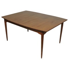 Mid-Century Modern Boat Shape Teak Extendable Dining Table Danish Style