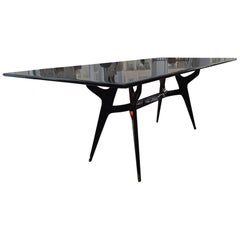 Mid-Century Modern Bolivian Rosewood Dinning Table by Ico Parisi 1950s