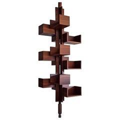 Gianfranco Frattini Mid Century Modern Rosewood Bookmill for Poltrona Frau