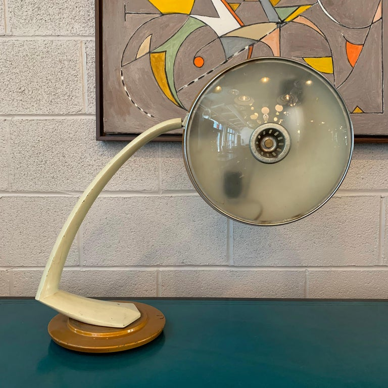 Mid-Century Modern Boomerang Desk Lamp by Fase, Spain For Sale 1