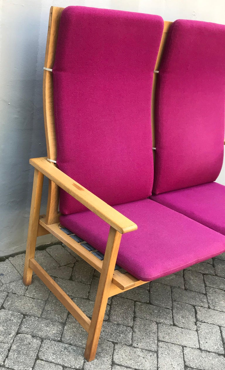 Mid-Century Modern Mid Century Modern Borge Mogensen Two-Seat Sofa Bench, Denmark, 1960s For Sale