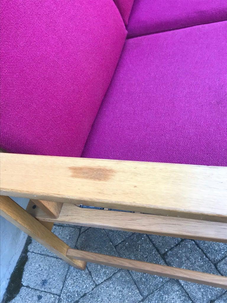 Mid Century Modern Borge Mogensen Two-Seat Sofa Bench, Denmark, 1960s For Sale 2