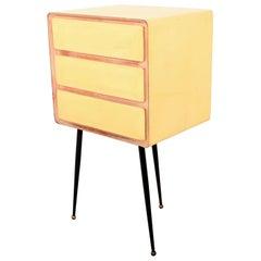 Mid-Century Modern Borsani Style Vintage Office Desk Filing Cabinet