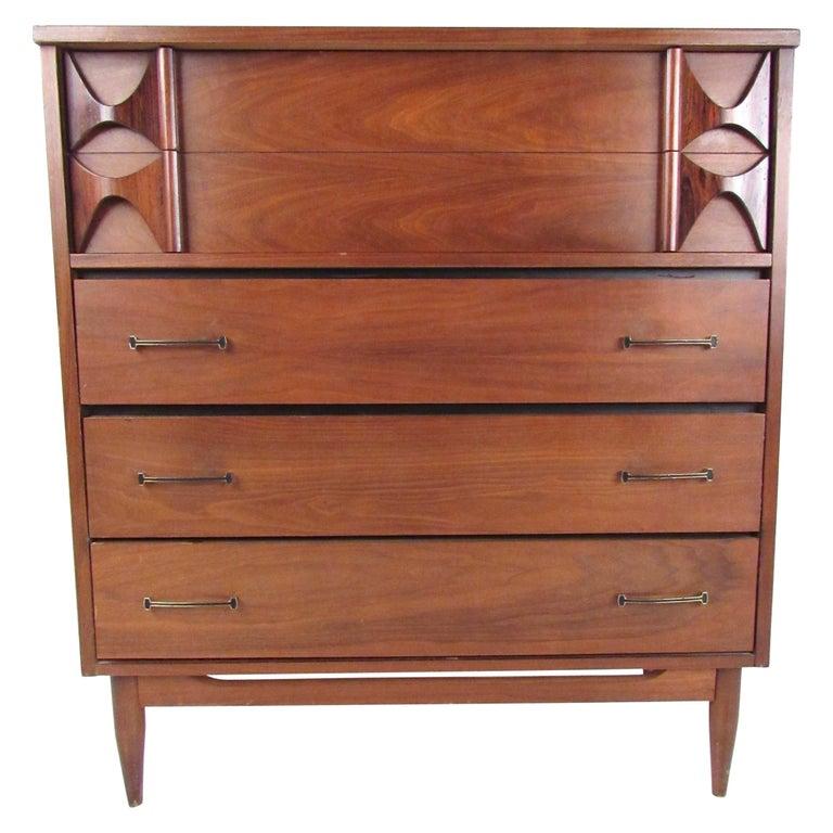 Mid Century Modern Brasilia Style Highboy Dresser For Sale At 1stdibs