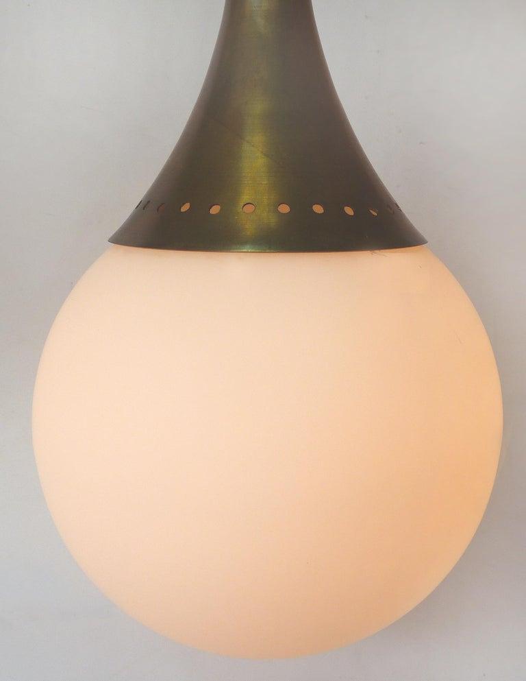 Mid-Century Modern Brass and Glass Sputnik Chandelier For Sale 2