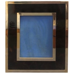 Mid-Century Modern Brass and Lucite Photo Frame in the Style of Gabriella Crespi