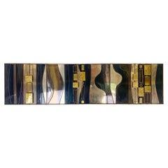 Mid-Century Modern Brass Curtis Jere Wall Sculpture