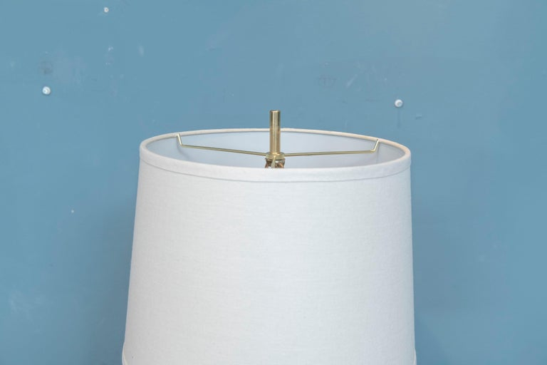 Mid-Century Modern Brass Faceted Lamp For Sale 3