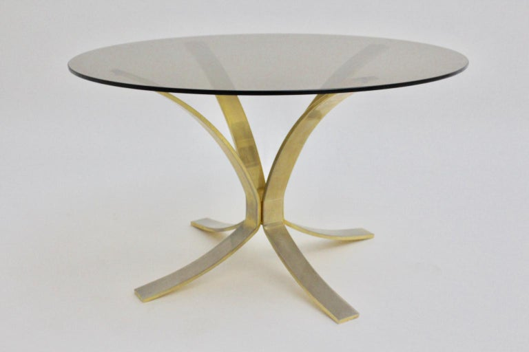 Mid-Century Modern Brass Glass Coffee Table by Roger Sprunger, 1960s In Good Condition For Sale In Vienna, AT