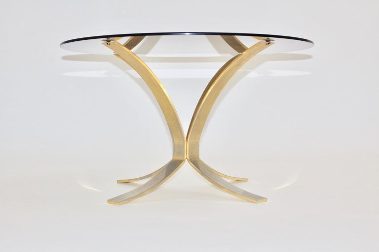 Mid-Century Modern Brass Glass Coffee Table by Roger Sprunger, 1960s For Sale 1