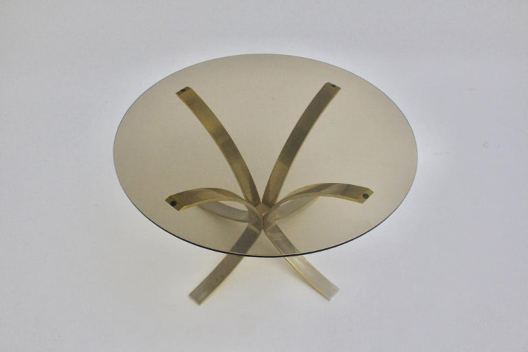 Mid-Century Modern Brass Glass Coffee Table by Roger Sprunger, 1960s For Sale 2